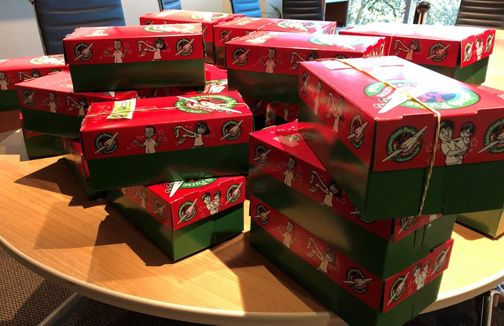 OCC Shoes Boxes before being delivered