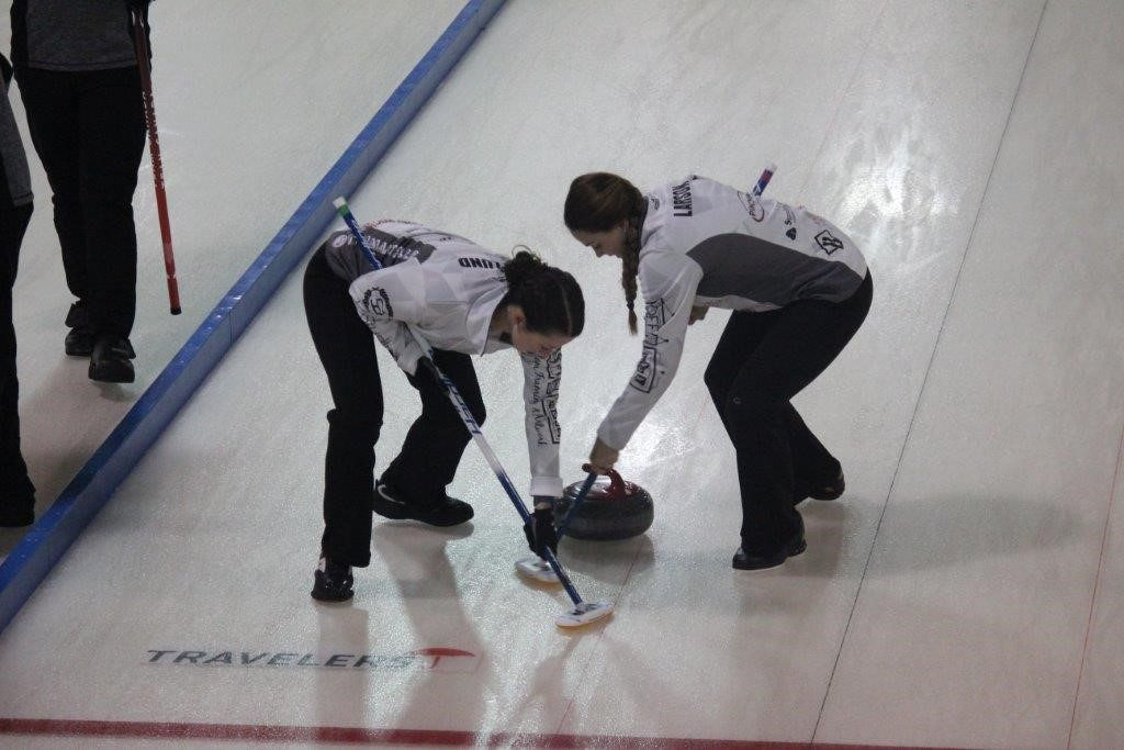 curling in action