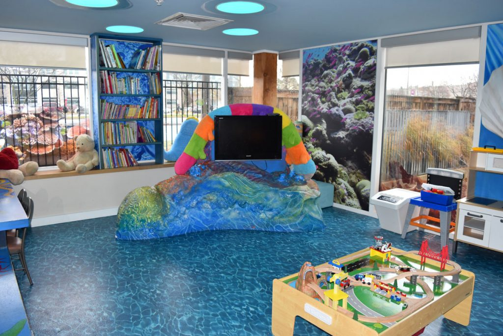 Hamilton Ronald McDonald House Water themed playroom